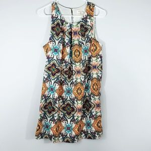 Monteau patterned sleeveless dress size M